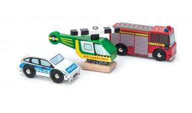 Set autíček Le Toy Van Záchranáři