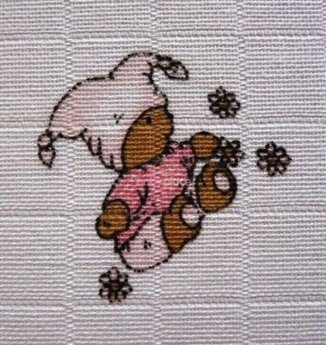 Libštat Pleny Méďa růžový 5 Ks 70x70 cm