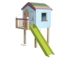 Dřevěný zahradní domeček pro panenky Lottie