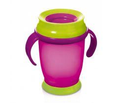 Lovi Hrníček 360 JUNIOR 250ml s úchyty bez BPA růžový