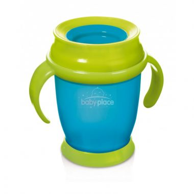 Lovi Hrníček 360 MINI 210ml s úchyty bez BPA Modrý