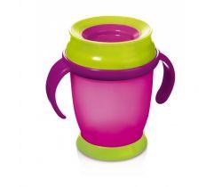 Lovi Hrníček 360 MINI 210ml s úchyty bez BPA růžový