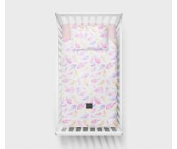 Lullalove Bavlněné ložní povlečení 135x100 cm - Kapradiny růžové
