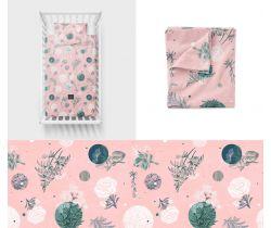 Lullalove Bavlněné ložní povlečení 135x100 cm - Rose Garden