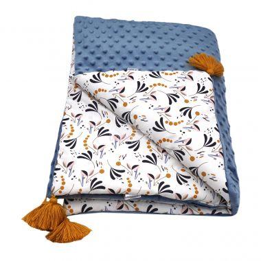 Luxusní deka se střapcema 70x100 cm Velvet LittleUp Mandala