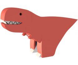 Magnetická skládací hračka HALFTOYS T-Rex