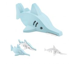 Magnetická skládací hračka s 3D modelem oceánu HALFTOYS Žralok Pilonos