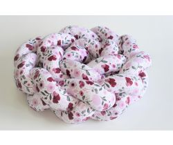 Mantinel do postýlky 210x16 cm DuetBaby Cop Pink Flowers