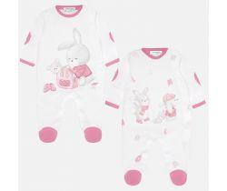 Overal 2 ks Mayoral Bunny Pink