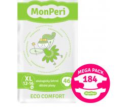 Mega Pack dětské pleny 184 ks 12-16 kg MonPeri Eco Comfort XL