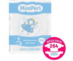 Mega Pack dětské pleny 264 ks 3-6 kg MonPeri Eco Comfort S