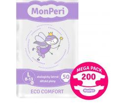 Mega Pack dětské pleny 200 ks 8-13 kg Monperi Eco Comfort L