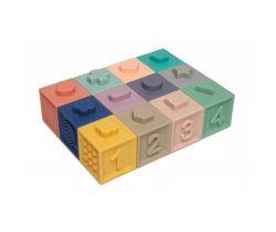 Měkké senzorické hrací kostky 12 ks Canpol