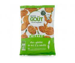 Mini rýžové koláčky s mrkví 40 g Good Gout Bio