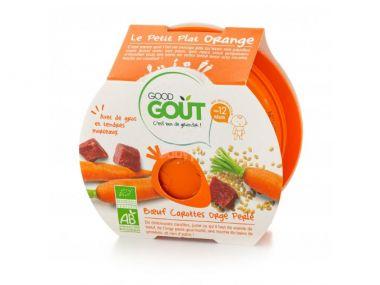 Miska hovězí s mrkví a ječnými kroupami 220 g Good Gout Bio