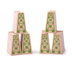 Mostní pilíře 6ks Bigjigs Rail