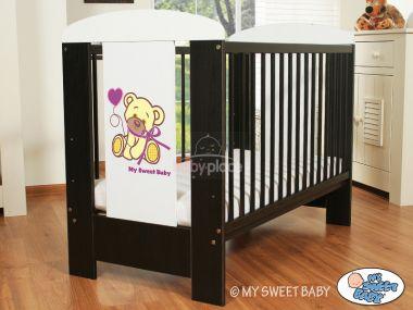 My Sweet Baby Méďa s mašlí postýlka 120 x 60 cm