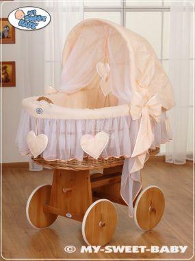 My Sweet Baby náhradní obšití proutěného koše s boudou z kolece Srdíčka