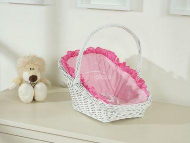 My Sweet Baby proutěné  nosítko pro panenku bílá 1