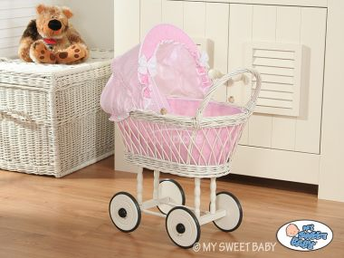 My Sweet Baby proutěný kočárek pro panenku  1