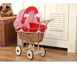 My Sweet Baby  proutěný kočárek pro panenku přírodní 1