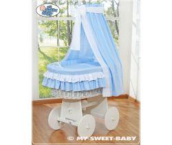 My Sweet Baby proutěný koš bílý-domácí luxusní kočárek