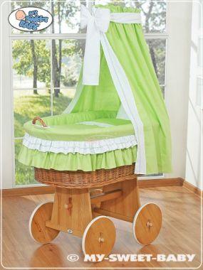 My Sweet Baby Proutěný koš přírodní-domácí luxusní kočárek