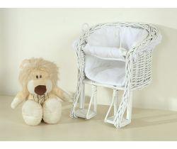 My Sweet Baby sedátko pro panenky na kolo střední bílé