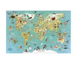 Nástěnná magnetická mapa světa Vilac