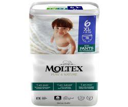 Natahovací plenkové kalhotky Moltex Pure & Nature XL +14 kg (18 ks)