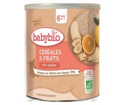 Nemléčná ovocná kaše (3 druhy ovoce) 220 g Babybio