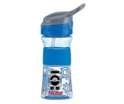 Láhev sportovní s měkkým sklápěcím brčkem 360 ml Nuby