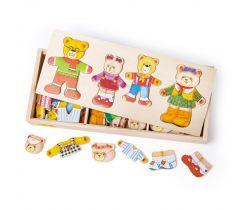 Oblékací puzzle Bigjigs Toys Medvědí rodinka