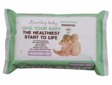 Organické vlhčené ubrousky bez vůně 72 ks Beaming Baby