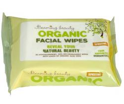 Organické vlhčené ubrousky na obličej 25 ks Beaming Baby