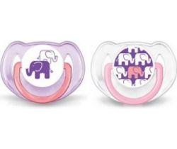 Ortodontický dudlík 2 ks Avent Sloníci fialová