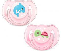Ortodontický dudlík 2 ks Avent Turtle/Dolphin