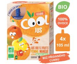 Ovocná BIO kapsička 4x105ml Vitabio Cool Jus jablko, mango a acerola