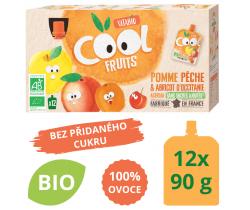 Ovocné BIO kapsičky 12x90g Vitabio Cool Fruits jablko, broskev, meruňka a acerola