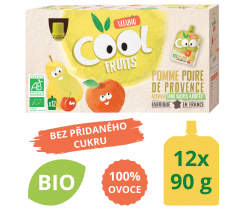 Ovocné BIO kapsičky 12x90g Vitabio Cool Fruits jablko, hruška a acerola