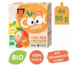 Ovocné BIO kapsičky 4x90g Vitabio Cool Fruits jablko, broskev, meruňka a acerola