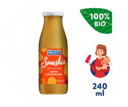 Ovocné smoothie s mangem, ananasem a pomerančovou dužinou (240 ml) Salvest Smushie BIO