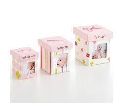 Pearhead Little Keepsake set krabiček-růžový