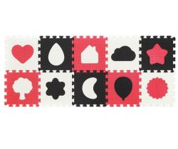 Pěnové puzzle 10 ks BabyOno Shapes