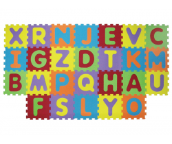 Pěnové puzzle 143x48 cm Ludi Písmena