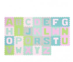 Pěnové puzzle 26 ks BabyOno Pastelové Písmena