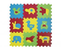 Pěnové puzzle 84x84 cm Ludi Zvířátka Basic