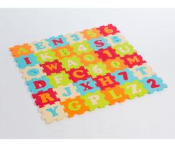Pěnové puzzle 90x90 cm Ludi Písmena a Čísla