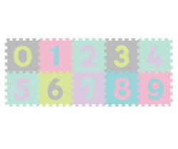 Pěnové puzzle BabyOno Pastelové Čísla