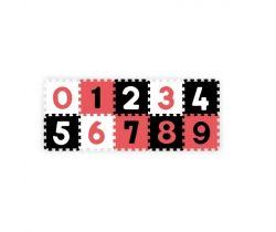 Pěnové puzzle BabyOno Pastelové Čísla 10 ks Black/Red/White